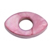 Shell Oval With Center Hole 15x25mm Dark Rose